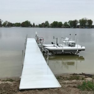 Treated Wood Dock With Aluminum Stringers – Midwest Marine Supplies