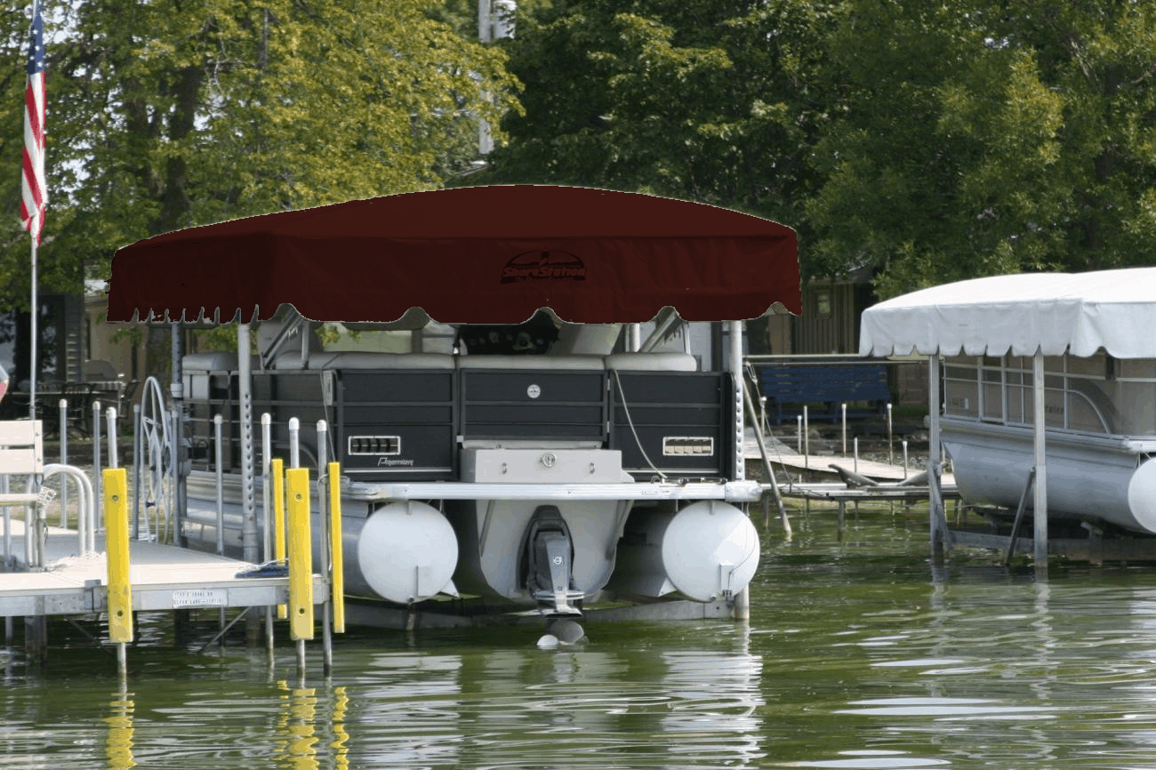 Shorestation Aluminum Shelter Rite Sr18 Boat Lift Canvas